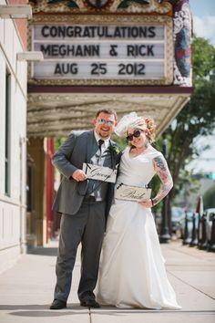 A Graffiti, Rock and Roll Wedding in Pennsylvania – Meghann & Rick Tattooed Wedding, Tattooed Brides, Brides With Tattoos, Wedding Tattoos, On Your Wedding Day, Wedding Blog, Graffiti Piece, Wedding Pinterest, I Got Married