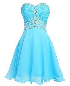 449d906fdd0 (via Fashion Plaza Short Chiffon Strapless Crystal Homecoming Dress D0263)  Check more homecoming dress