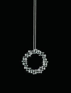 So pretty!!                                 Canturi Cubism circular diamond pendant by Stefano Canturi #DiamondPendant