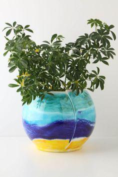 Colourful garden pot