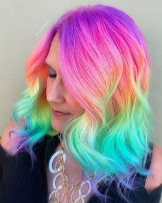is the artist. Pulp Riot is the paint. Bold Hair Color, Bright Hair, Twist Braid Hairstyles, Pretty Hairstyles, Twist Braids, Updo Hairstyle, Prom Hairstyles, Unicorn Hair Color, Pulp Riot Hair Color