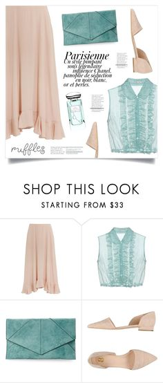 """""""Parisienne"""" by marina-volaric ❤ liked on Polyvore featuring Miu Miu, Urban Expressions, 8, Magdalena, By Terry and ruffles"""