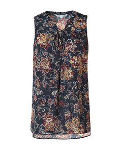 Floral Lace Front Tunic Blouse #cleofashion | Cleo