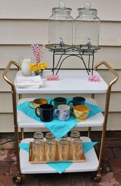 Breakfast Bar Cart Makeover | Oh the Fun Blog
