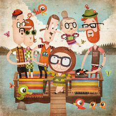 Wonderful combination of colors & characters.    —via Tuomas Ikonen