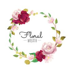 flower wreath, Flower, Wreath, Red PNG and Vector Flower Png Images, Vector Flowers, Flower Clipart, Flower Pictures, Leaves Vector, Watercolor Flower Wreath, Floral Watercolor, Floral Frames, Burgundy Flowers