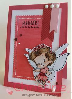 Roberto's Rascals Cutie Butterfly Rubber Stamp
