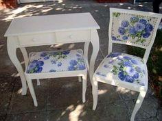 sillas luis xv shabby chic blancas tipo sillon