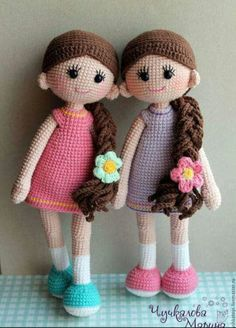 Buenas chicas PDF dos patrón de muñeca de ganchillo