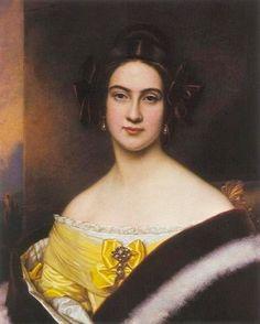 1837 Freiin Mathilde Jordan by Joseph Karl Stieler