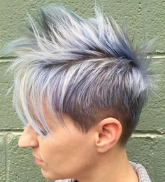 Spiky Silver Blue Pixie