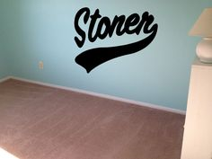 Stoner Decal Weed Sticker 420 Cannabis Pot Hippy Trippy Decal Set wall art Wall…