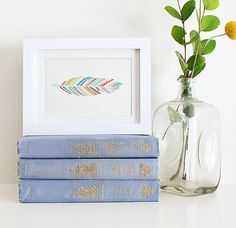 One Feather 5 x 7 Print by satchelandsage on Etsy, $12.00