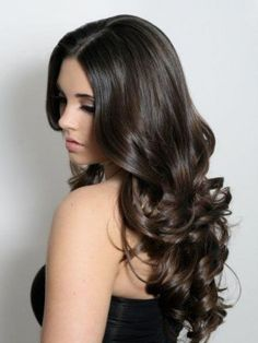 Details on New Arrival Cheap Dark Brown Human Hair Long Body Curly Lace Wig Long Thin Hair, Long Curly Hair, Curly Hair Styles, Long Curls, Curly Wigs, 100 Human Hair, Human Hair Wigs, Curly Full Lace Wig, Non Blondes