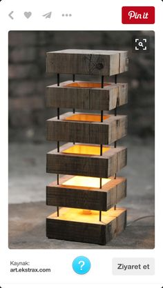 Woodworking Projects DIY Wooden Desk Lamp - 18 Amazing DIY Lamp Ideas You Can Do It At Home - Here we will share with you 18 Amazing DIY Lamp Ideas You Can Do It At Home of how you can make some beautiful and gor Deco Design, Lamp Design, Wood Design, Lighting Design, Solid Wood Furniture, Art Furniture, Furniture Design, Cheap Furniture, Moroccan Furniture