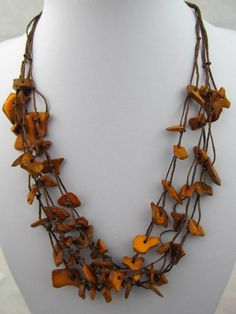 Wooden Bead NecklaceYellow NecklaceVintage by BeautifulShow, $16.99