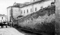 1930s, Angra do Heroísmo, Ilha Terceira   Lado lateral do antigo Liceu de Angra do Heroísmo,