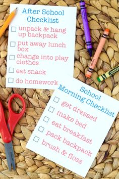This Before and After School Checklist takes a small bit of the the crazy out of the two most hectic times a day, before and after school!
