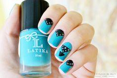 Turquoise Cake - Latika nail art