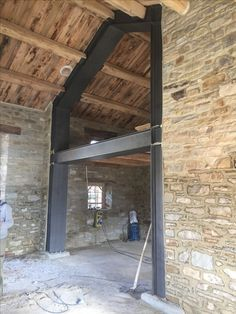 Beautiful Architecture, Architecture Details, Stone House Plans, Mountain Home Exterior, Casa Loft, Steel Frame House, Barn Renovation, Shipping Container House Plans, Medieval Houses