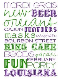 Louisiana Mardi Gras, New Orleans Mardi Gras, Mardi Gras Beads, Mardi Gras Party, Madi Gras, Mardi Gras Decorations, Subway Art, Silhouette Projects, Best Part Of Me
