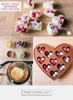 Sweet and Savory Valentine\'s Chocolate Bark from Mrs. Potter