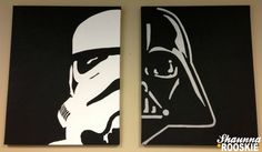 Come to the Dark Side by shaunnaRooskie :) Star Wars canvas art #vader #stormtrooper