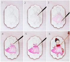 Como pintar una galleta - tutorial