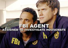 FBI agent assigned to investigate housemate... (gif)
