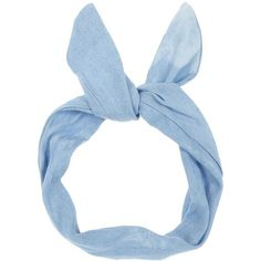 Light Blue Bleach Denim Wire Headband ($2.92) ❤ liked on Polyvore featuring accessories, hair accessories, hair, hats, headbands, wire headband, head wrap hair accessories, hair band headband, wire headwrap and wire bow headband