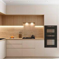 38 best elegant contemporary kitchen decor ideas new home 40 Kitchen Room Design, Luxury Kitchen Design, Kitchen Cabinet Design, Home Decor Kitchen, Interior Design Kitchen, Home Kitchens, Small Modern Kitchens, Modern Kitchen Interiors, Contemporary Kitchens