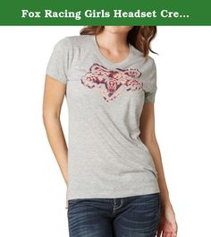 Fox Racing Girls Headset Crew Short-Sleeve Shirt Heather Grey Small. Fox Racing is a leading manufacturer of Sportswear and Off-Road gear Offering high quality t-shirts, tee, tanks and tops for men and women. From a heritage deeply rooted in performance products, Fox Racing strives to build the very best in every category team creates. Their dedication to performance, passion for design and engineering excellence drives the team to innovate and push beyond the ordinary. > 50/50% Cotton…