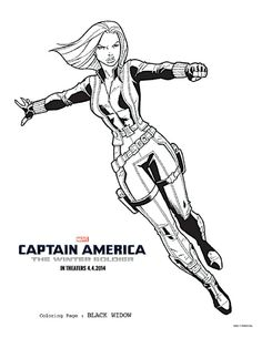 black widow coloring page captainamerica captainamericaevent