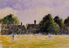 Hampton Court Green, 1890 - Camille Pissarro - WikiArt.org