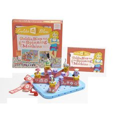 GoldieBlox and the Spinning Machine. I'm adding this to EC's list. Goldiblox website for cheaper than Toys R Us.
