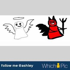 choose #angel or #devil