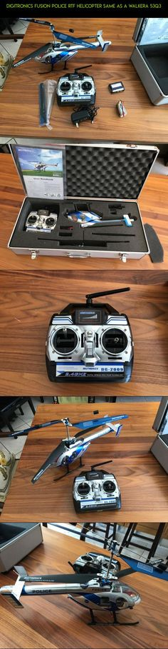 DIGITRONICS FUSION POLICE RTF HELICOPTER SAME AS A WALKERA 53Q3 #racing #walkera #kit #fpv #drone #camera #gadgets #shopping #rtf #products #technology #tech #plans #helicopter #parts
