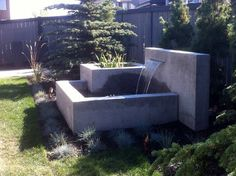 Concrete Water Features Design Ideas, Pictures, Remodel and Decor
