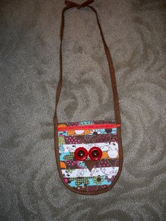 Owl Purse from pattern in a quilting magazine.