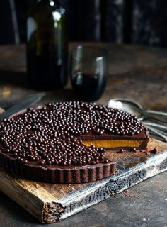Chilli Chocolate and Caramel Tart. A decadent but surprisingly easy-to-make dessert
