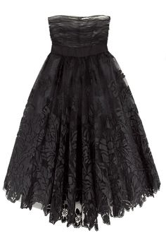 Oscar de la Renta Embroidered taffeta dress | NET-A-PORTER.COM :