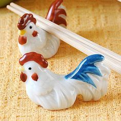 Chicken chopstick rest