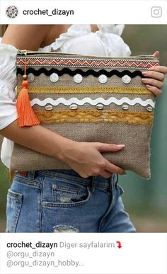 Discover recipes, home ideas, style inspiration and other ideas to try. Diy Clutch, Clutch Bag, Pochette Diy, Sacs Tote Bags, Jute Bags, Boho Bags, Linen Bag, Fabric Bags, Little Bag