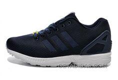 buy popular b133e cfe3c Soldes Acheter Des Biens En Ligne Femme Homme Adidas Originals ZX Flux  Sombre Bleu Blanche Chaussures Soldes Super Deals WJraYB, Price   71.00 -  Adidas ...