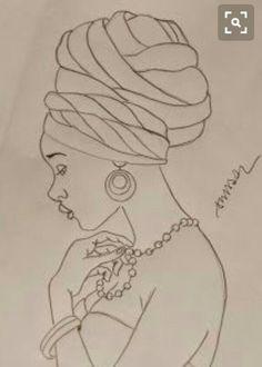 African woman pattern for tin glazed pottery project Black Art, Black Women Art, African American Art, African Women, Art Sketches, Art Drawings, Art Du Croquis, Afrique Art, African Art Paintings