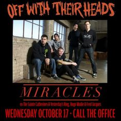 Off With Their Heads in London, ON live at Call The Office - October 17, 2012