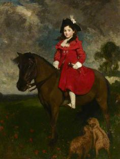 The Field, the Artist's Daughter on a Pony by Solomon Joseph Solomon (British 1860–1927)