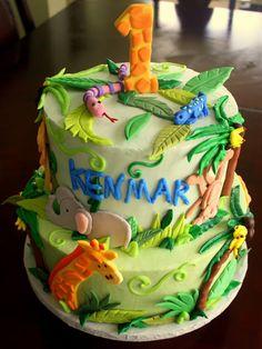 Claudine: Jungle Baby 1st Birthday Cake