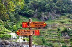 Holiday in Funchal Madeira and walking in levada.