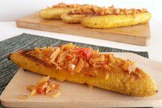 RECEPT: plantain boats (bakbanaan gevuld met bakkeljauw)